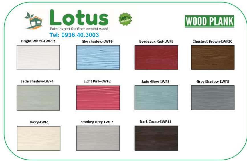 Sơn Lotus đa dạng màu sắc