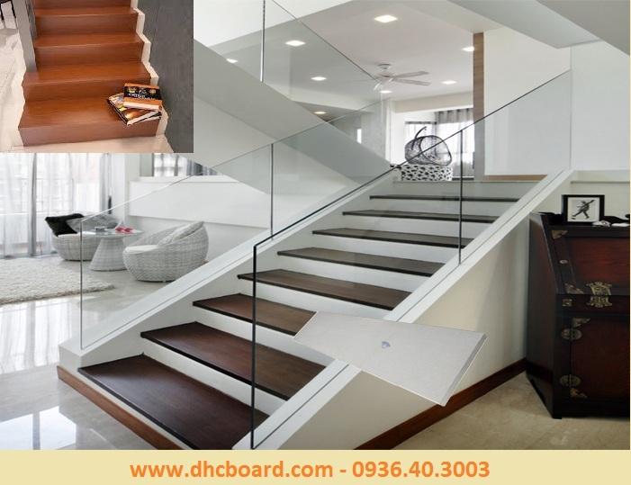 Cầu thang giả gỗ đẹp từng milimet