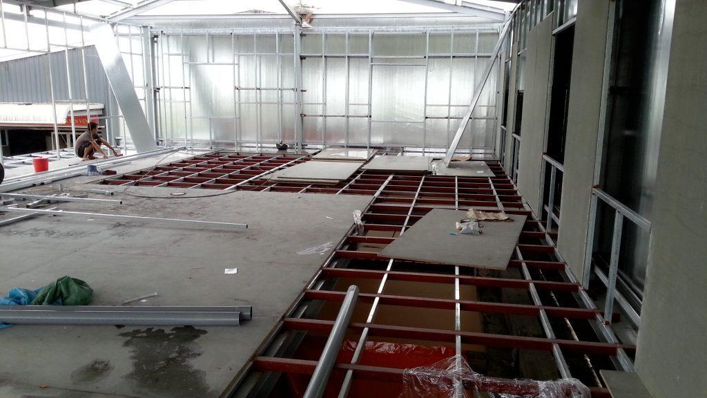 Tấm cemboard làm sàn nhẹ chịu lực giảm kết cấu móng cho nhà