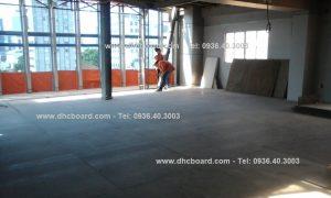 Làm sàn nhẹ thay thế đổ bê tông bằng tấm Cemboard