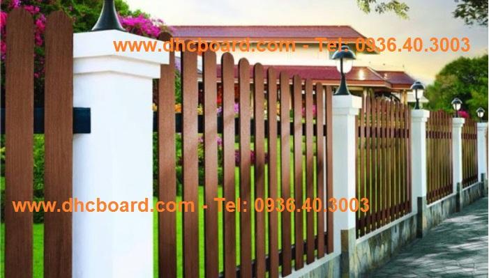 Hàng rào gỗ nhân tạo Smartwood phân phối bởi công ty DHC
