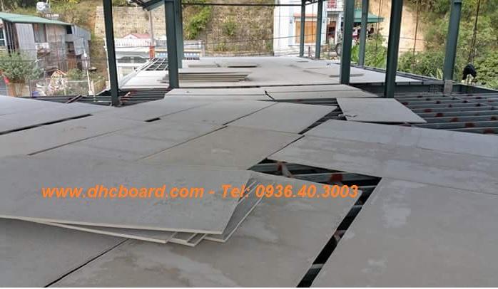 Sàn nhẹ thay đổ bê tông bằng tấm xi măng Duraflex Vĩnh Tường