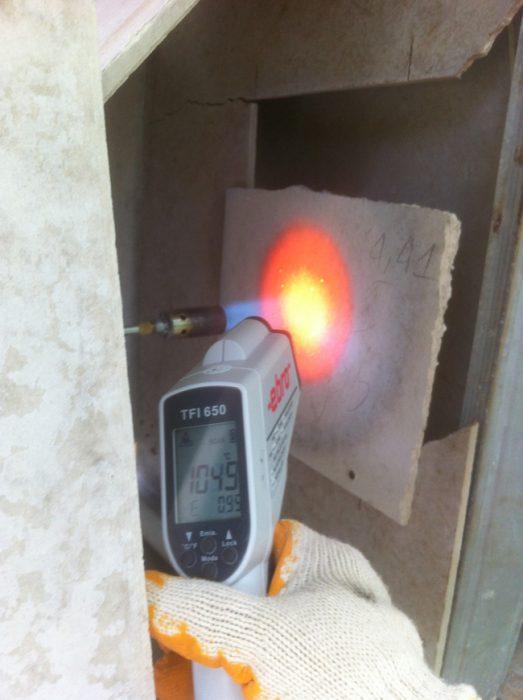Test vách ngăn chống cháy bằng tấm Duraflex Vĩnh Tường.