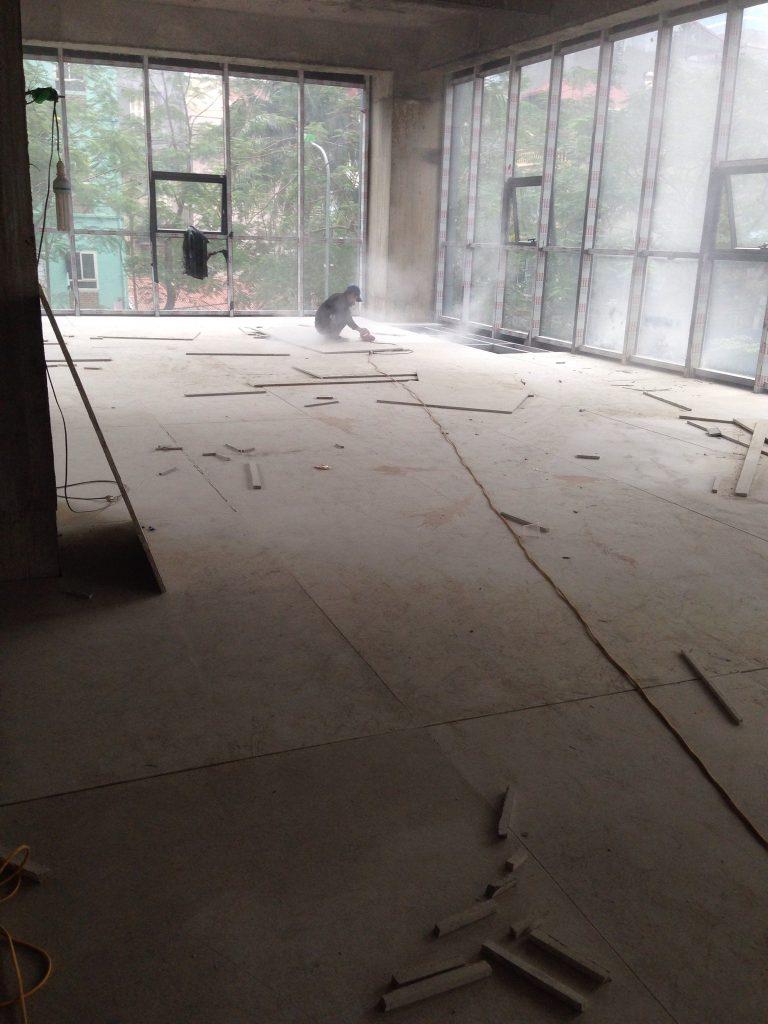 Thi công sàn nhẹ bằng tấm xi măng Duraflex (8)