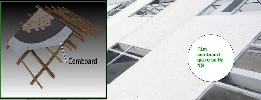 Tấm sàn bê tông nhẹ ứng dụng làm mái nhà.