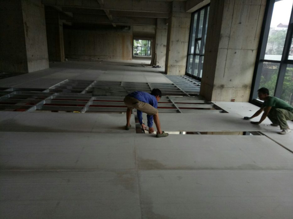 Sàn lắp ghép siêu nhẹ bằng tấm xi măng cemboard