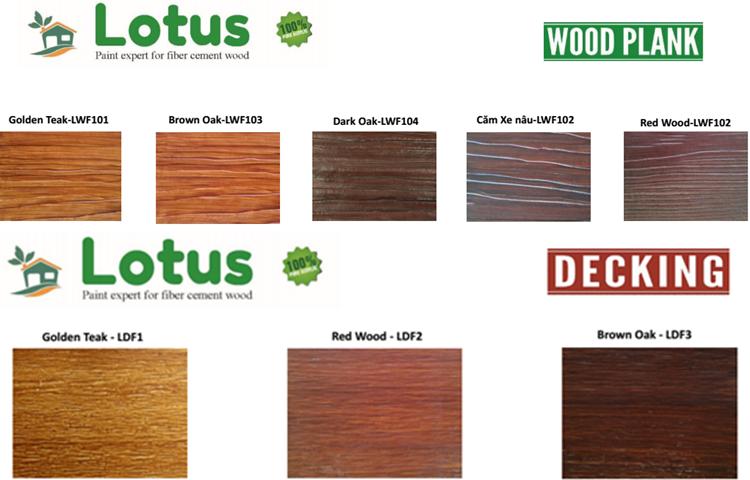 Sơn giả gỗ gốc nước Lotus chuyên dùng cho thanh hàng rào gỗ.