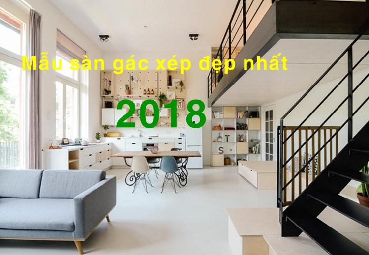 10 mẫu sàn gác xép, gác lửng đẹp nhất 2018 làm từ tấm cemboard.