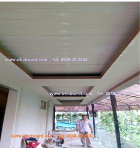 Ốp trần giả gỗ khách sạn Kim ngưu bằng gỗ nhân tạo