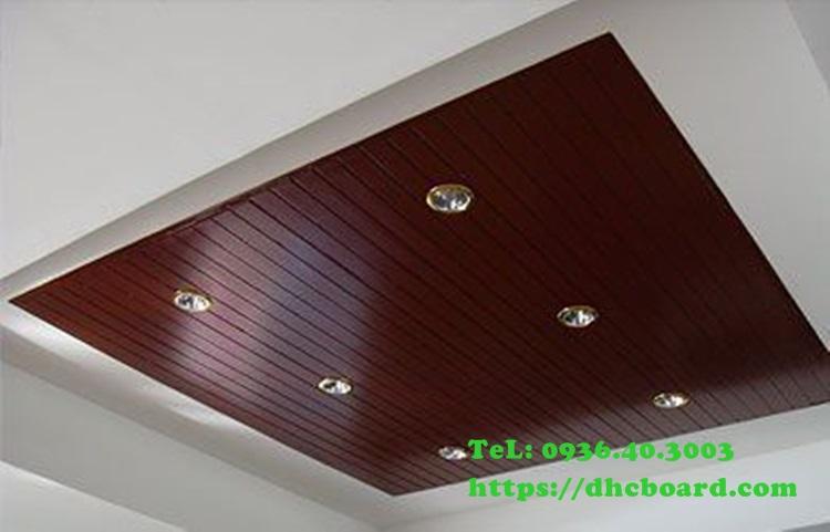 Ốp trần gỗ chịu nước bằng tấm xi măng giả gỗ Conwood - Smartwood