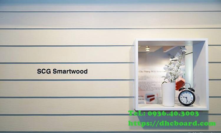 Tạo điểm nhấn nổi bật khi sử dụng tấm xi măng giả gỗ.