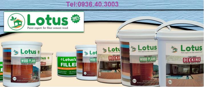 Sơn giả gỗ Lotus dùng cho tấm xi măng giả gỗ Smartwood Thái Lan