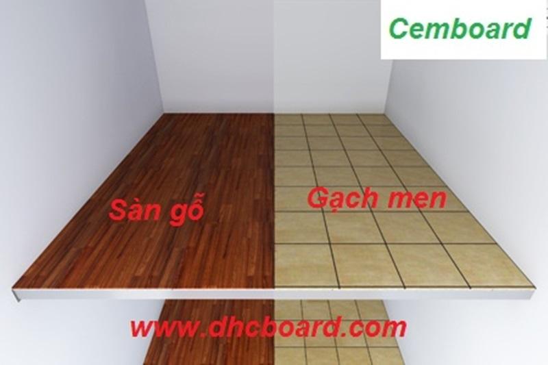 Hoàn thiện bề mặt tấm sàn nhẹ cemboard rất đơn giản.