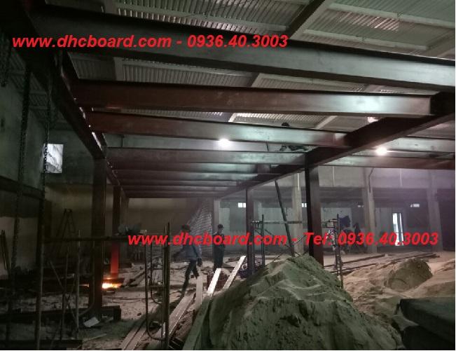 Hệ khung thép chính để lắp đặt tấm xi măng cemboard
