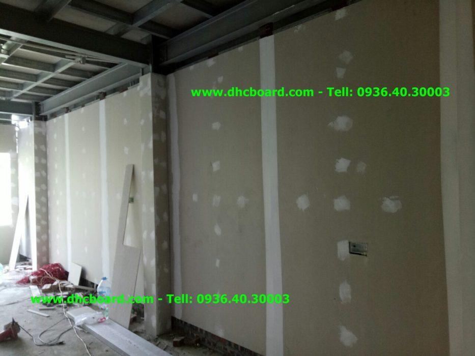 Hạng mục thi công vách ngăn chịu nước ngăn phòng, vách bao thay tường