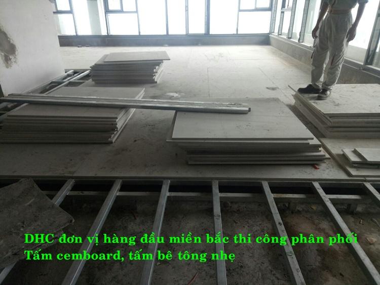 Sàn nhẹ chịu lực bằng tấm duraflex dày 18mm