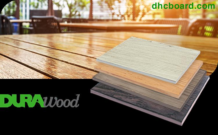 Có thể hoàn thiện bề mặt bằng tấm gỗ nhân tạo Durawood