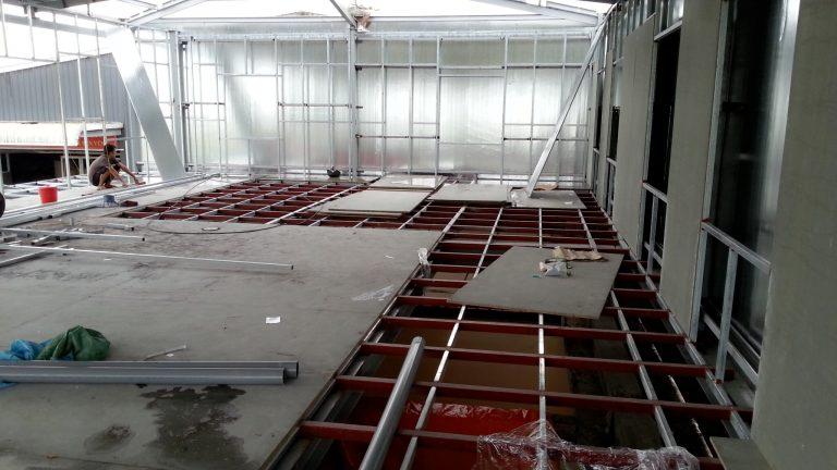 Nhà khung thép kết hợp với sàn nhẹ cemboard