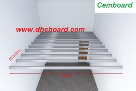 Hướng dẫn thi công sàn gác xép, gác lửng bằng tấm cemboard Duraflex