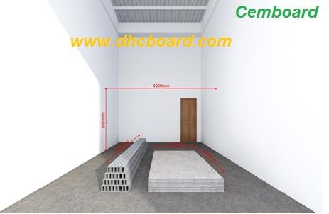 Sàn nhẹ, sàn gác xép bằng tấm xi măng cemboard Duraflex
