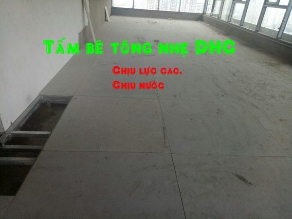 Tấm sàn bê tông nhẹ đúc sẵn chịu lực cao, chịu nước tuyệt đối.
