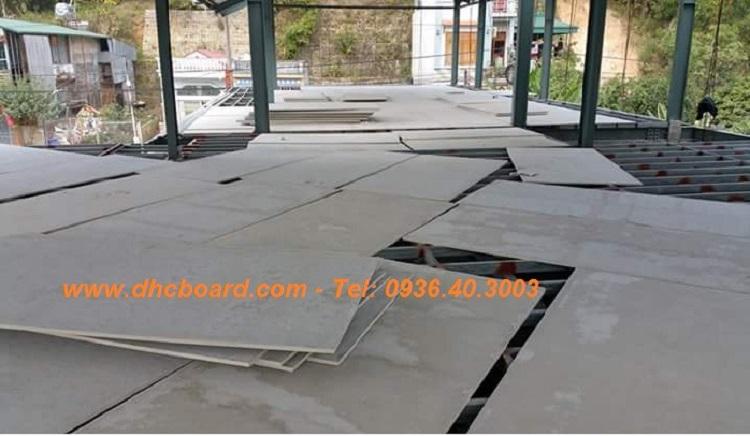 Tấm sàn bê tông nhẹ Cemboard tại hà nội