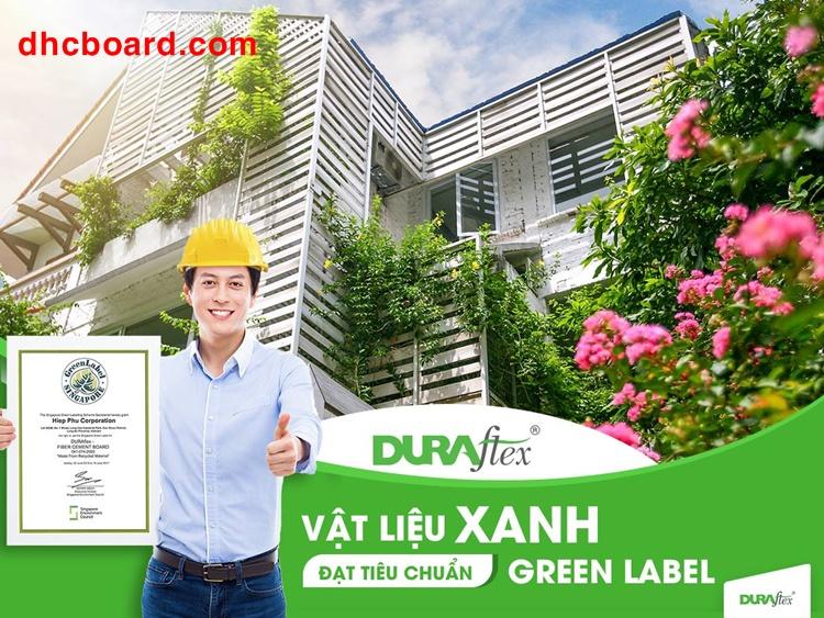 Tấm cemboard Vĩnh Tường vật liệu xanh thân thiện với môi trường