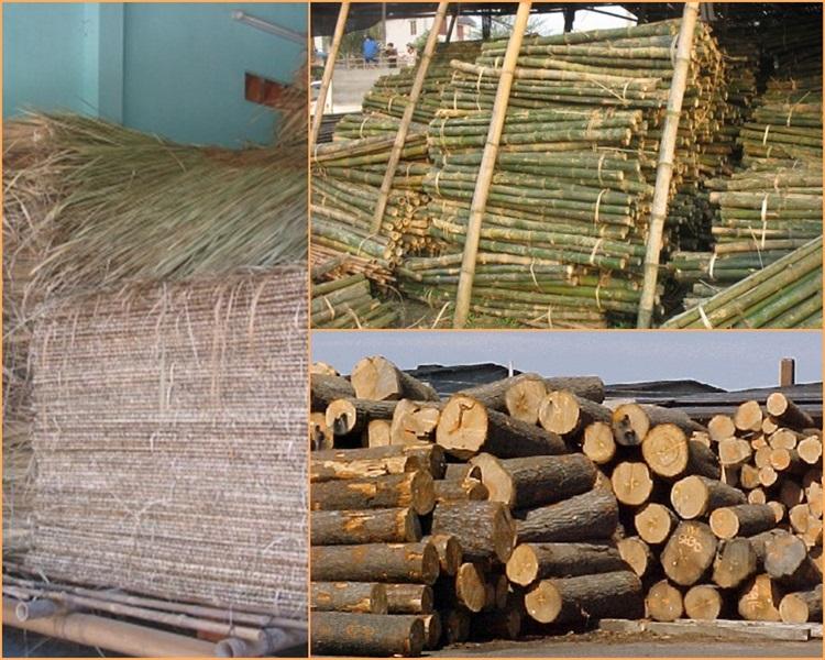 Vật liệu dùng để xây nhà bungalow rất đơn giản và chi phí rẻ