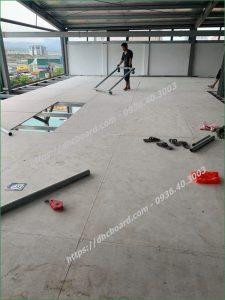 Giá thi công sàn bê tông siêu nhẹ Cemboard tại Hà Nội.