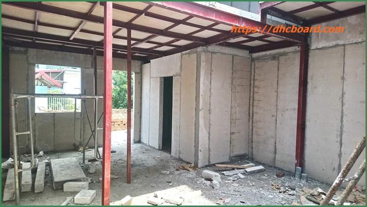 Giá xây nhà bằng tấm bê tông siêu nhẹ
